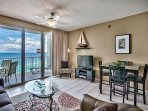 Majestic Sun 1008B - Living/Dining Area with Gulf Views