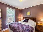 Bedroom #2 on the main floor features a queen bed.  All new beds and bedding!