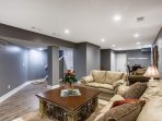 Newly finished basement gives you even more room to spread out and relax
