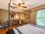 Plenty of storage and extra room to relax in the large main floor master bedroom