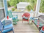 Revel in the cool coastal air and tranquil ocean views from this front deck.