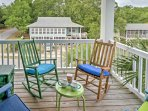 Sip on your morning coffee on the deck.