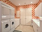 Enjoy use of the large laundry room throughout your stay.