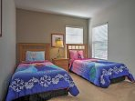 2 more twin beds can be found in the last bedroom.