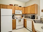Prepare all your favorites in the fully equipped kitchen, stocked with all the necessities.