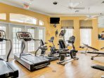 Work up a sweat in the fitness room.