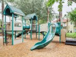 The kids will love romping around the on-site playground