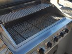 Large stainless built-in gas barbeque