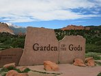 GARDEN OF THE GODS IS ONLY 10 MILES AWAY
