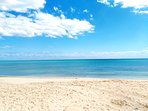 beach 7 minutes walking distance