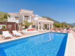 Villa Monaco with her spacious terrace and panoramic views to the coast and the ocean.