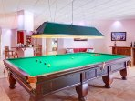 Snooker full size table in the party room