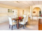 Guest Apartment fitted & equipped kitchen & dining area. All electric appliances