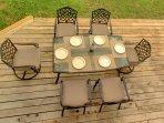 Enjoy Breakfast, Lunch or Dinner Al Fresco Out on The Deck!