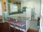 Open kitchen with all necessary appliances and utensils for your stay