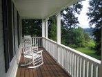 Rocking Chairs on Covered Porch