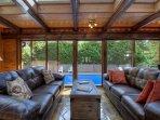 Poolside Sunroom Seating Area