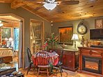 Sit down with your loved ones at this quaint dining table and enjoy a delicious home-cooked meal together.