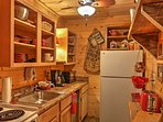 Whip up a hearty feast in this fully equipped kitchen.