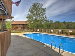 Take advantage of the wonderful resort amenities located around the complex, including this outdoor swimming pool.