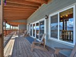Step outside and spend time on the balcony overlooking the bay.