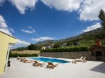 Private pool 12mx5m with whirlpool attached 2,5mx2m & spacious sun deck area