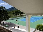 Property size 4.000 sq meter offers tennis court, volleyball & grassplot