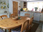Kitchen dining with seating for six