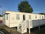 6 berth caravan for hire at Manor Park Holiday Park. Ruby rated.