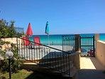 La bellissima veranda sulla spiaggia. Location ineguagliabile.