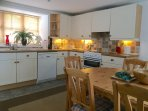 The fully equiped spacious kitchen