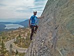 Great Rock Climbing on the Summit above Donner Lake