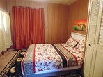 One bedrooms furnished with Queen Bed   walk in closet .sufficient fresh bed sheet for every day