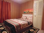 One bedrooms furnished with Queen Bed   walk in closet .sufficient fresh bed sheet for every day .