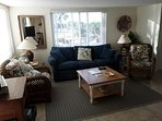 Living Room/Family Room with Queen size sofa