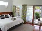 Master Bedroom with direct access to the verandah