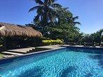 Onu Bay swimming pool, pool hut and deck