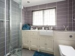 Superb en-suite shower room with plush towels and cosy robes