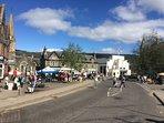 Aberfeldy's Farmer's market held on the 1st Sunday of the month