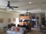 Spacious Living/Dining is a great gathering place.