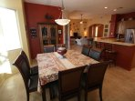 Dining Room, seats 6-8, with large buffet for food service or decor