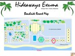 Beachside layout of Palm Bay/ Hideaways resort with Villa 30 right on the water.