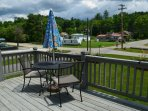 Deck provides a place to sit outside and enjoy the mountain evenings.