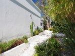 Private pathway around the villa.