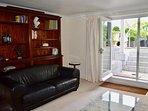 Living room with doors to terrace