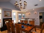 Classy dining room for great dining.
