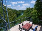 Wow! will you look at the view of the Guadalupe from the top deck!