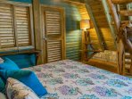 Chalet 3, Turquoise Bedroom: stairs to 3rd level bedroom