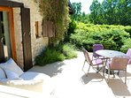 Lavender Terrace with Love  Sofa and private table and chairs