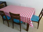 Table For Four With Newly Recovered Chairs